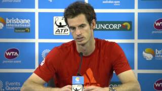 Andy Murray Semi Final Press Conference: Brisbane International 2013