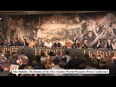 TheHobbit: The Battle Of The Five Armies London World Premiere Press Conference 2014