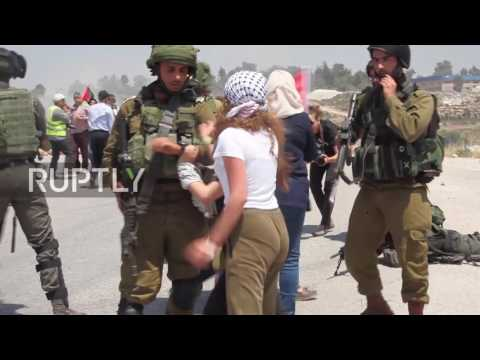 State of Palestine: Protesters face off with soldiers after