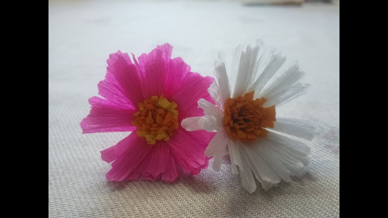Crepe paper asters 86