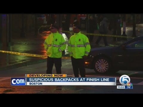 Suspicious backpacks at finish line