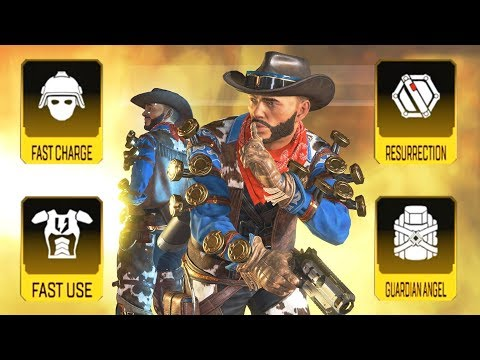 Using ALL GOLD ITEMS with MIRAGE in Apex Legends