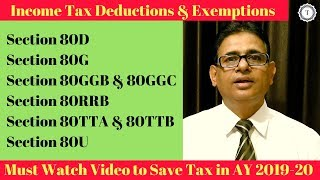 Income Tax Deductions | Section 80TTB | 80D | 80G | 80GGB | 80U | 80TTA | 80RRB | 80GGC | Taxpundit