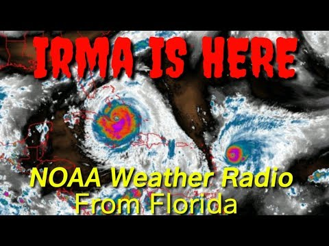 Latest Irma update watch satilite and NOAA Weather radio broadcasting from Florida September 9, 2017