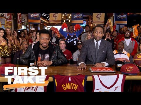 Cavaliers fans 'boo' Stephen A. and Max's pick for NBA champions | First Take | ESPN