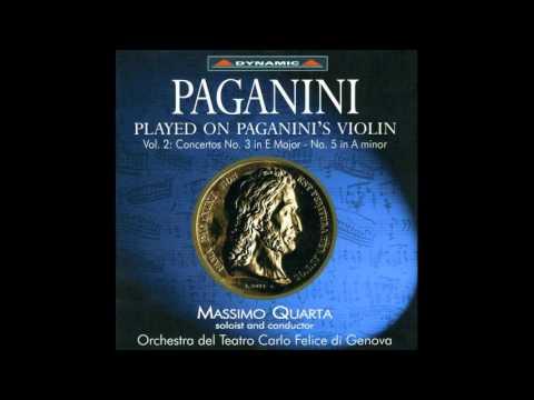 Played on Paganini's Violin Paganini Violin Concerto No  5