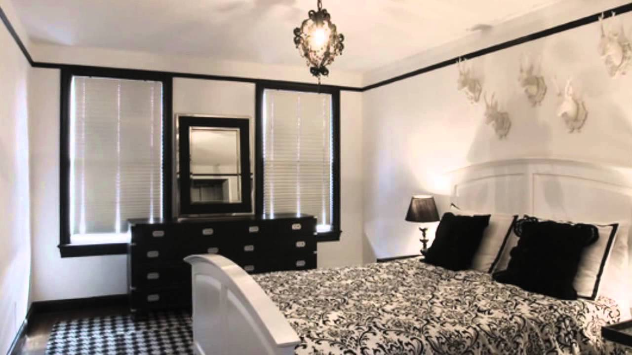 Youtube Black and white room decor