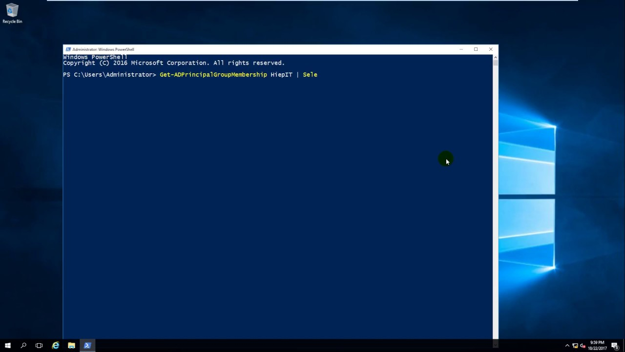 Using PowerShell - List the groups to which a user belongs