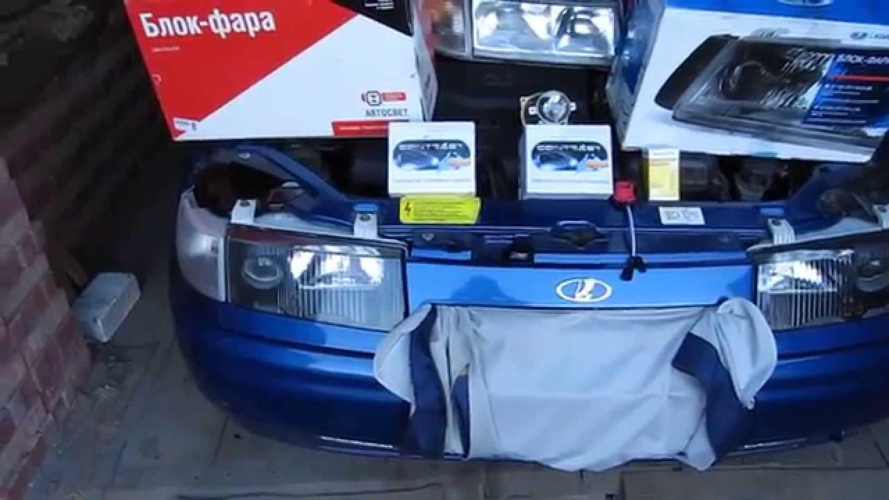 Улучшение света на машине ВАЗ 2110 - YouTube