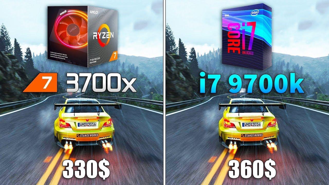 Ryzen 7 3700x Vs I7 9700k Test In 10 Games Youtube