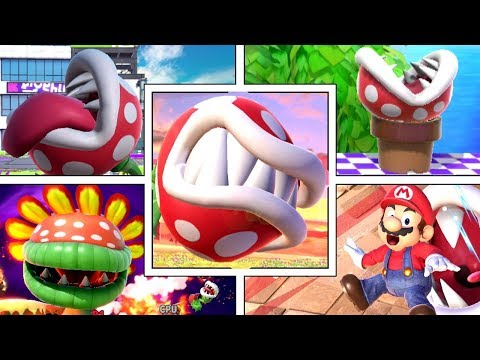 Piranha Plant's Various Funny Animations in Smash Bros Ultimate (Sleeping, Dizzy, Swimming & More!) thumbnail