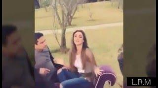 15 segundos de Anahí y Julion en filmación de clip Eres (29/02/16)