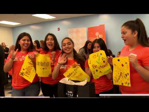 """SELENA GOMEZ AND COACH SURPRISE LOS ANGELES HIGH SCHOOL GIRLS WITH MESSAGE TO """"DREAM BIG"""""""