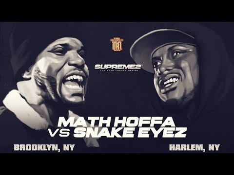 MATH HOFFA VS SNAKE EYEZ SMACK/ URL RAP BATTLE