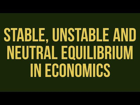 stable and unstable equilibrium in economics
