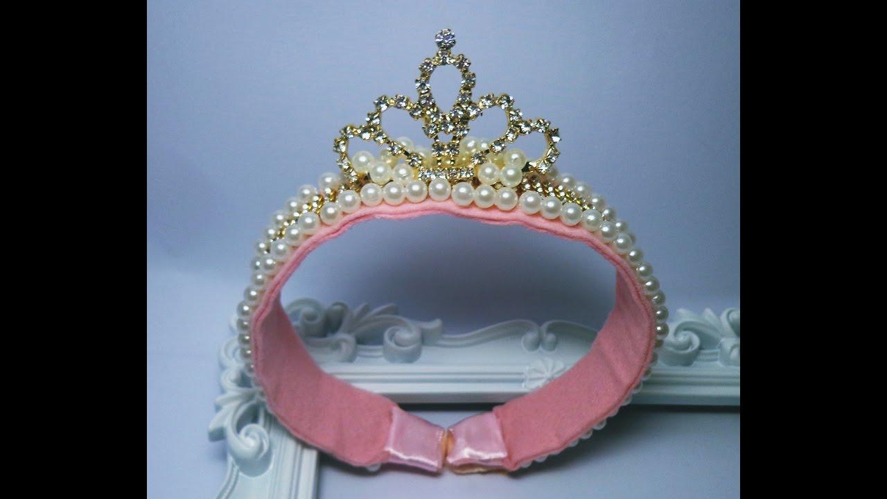 Como fazer Tiara de princesa Aula 24 - YouTube d4acb4ed67