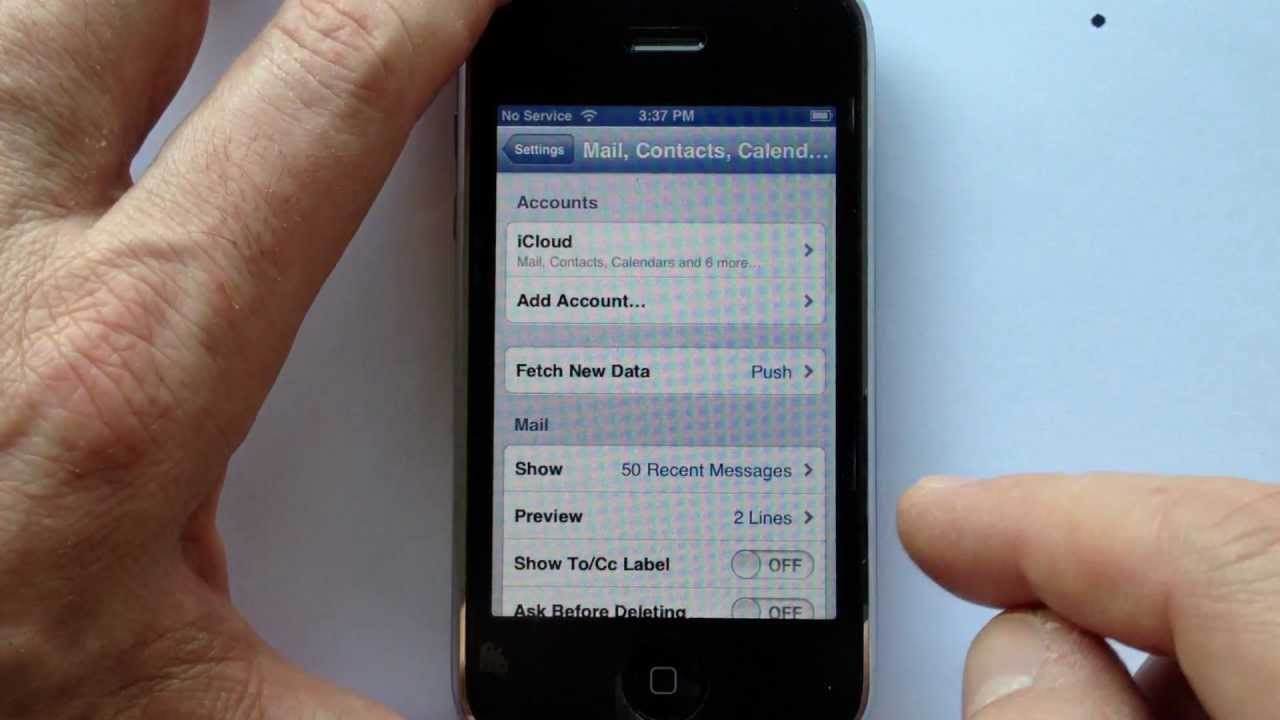 Reset Your iPhone Gmail account