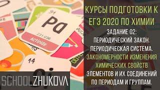 ЕГЭ 2019 Химия. Задание 2: периодический закон. Химия для гуманитариев