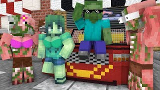 Monster School : Girls vs Boys building cars challenge- Minecraft Animation