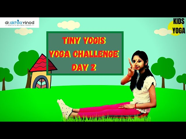 Tiny Yogis 5 Day Yoga Challenge Day 2 | Tiny Yogis Yoga Challenge | Kids Yoga | Yoga For Kids
