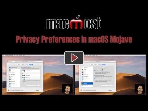 Privacy Preferences in macOS Mojave