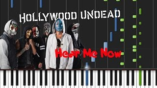 Hollywood Undead - Hear Me Now [Piano Cover Tutorial] (♫)