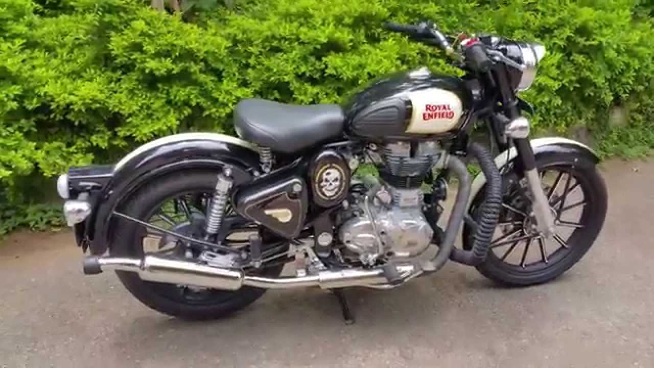 Royal Enfield Classic 500 Black With Alloys Clock