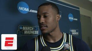 Muhammad-Ali Abdur-Rahkman on Michigan after loss to Villanova: 'We're a brotherhood'   ESPN