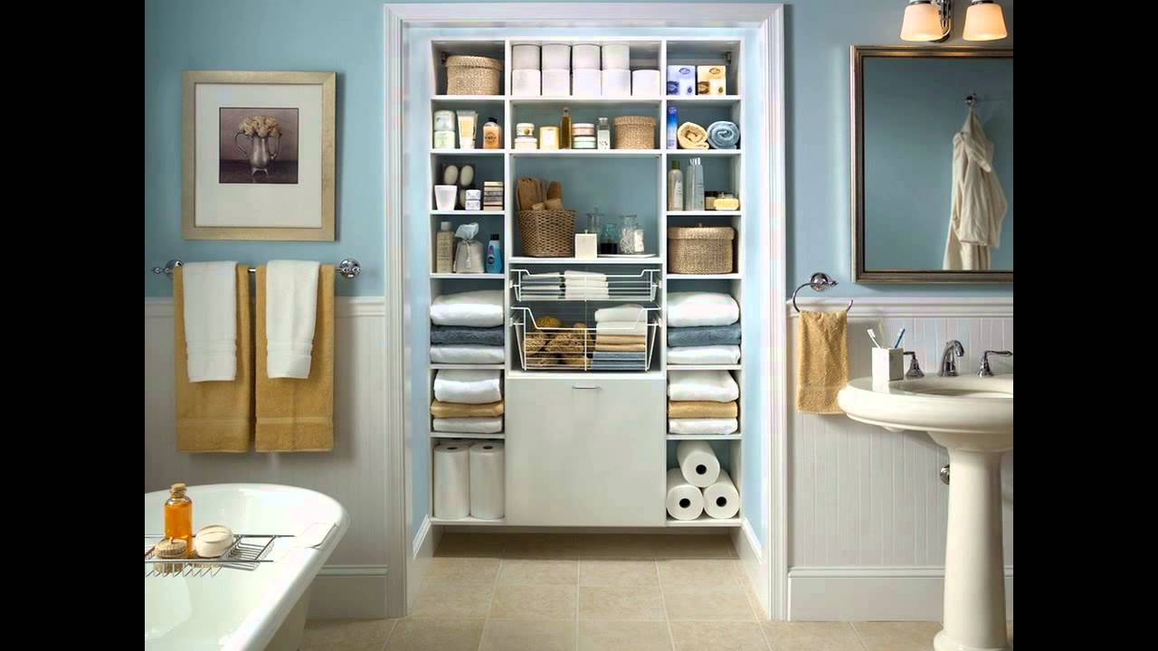 Small bathroom closet ideas youtube solutioingenieria Images