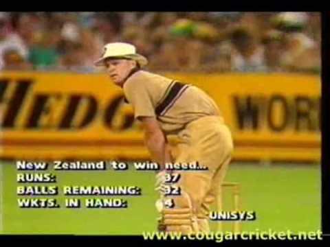 AUSTRALIA vs NEW ZEALAND, 19871988 WSC G4 NZ INN