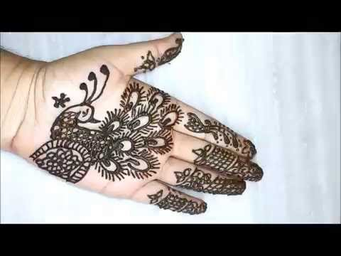 c581a19c7608a Latest peacock mehandi design:step by step tutorial - YouTube