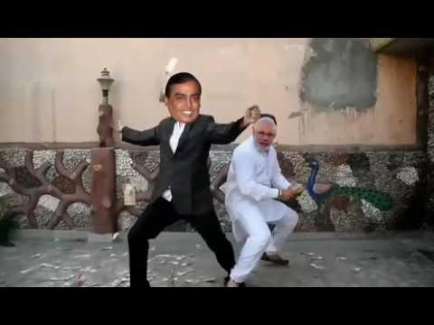 modi n ambani dance dehati song
