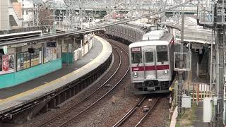 【HD】10000系更新車 東武スカイツリーラインの堀切駅近くの跨線橋にて