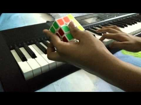 R U R U' * 12 while playing radioactive on piano / Cube A Holic contest