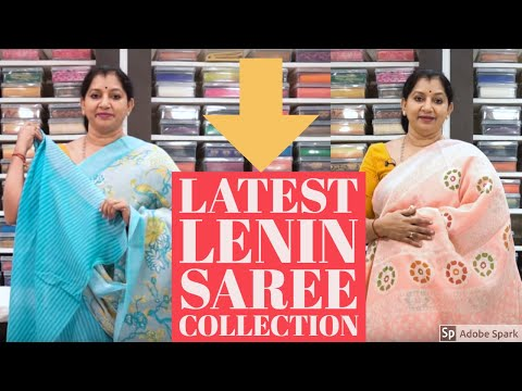 ||latest-linen-saree-collection-||episode-13-#linen-#trending-design-#super-smooth-collection