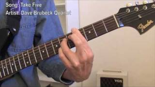 Take Five (guitar lesson)