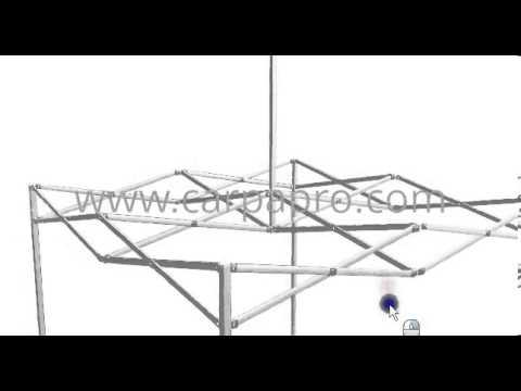 Estructura carpas plegables sistema carpapro basic 2x2 m for Estructura de toldo