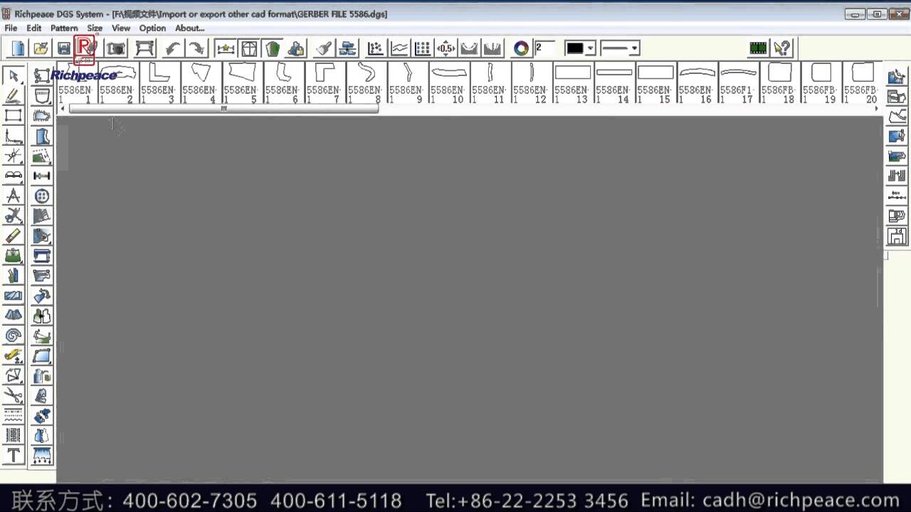 How To Import And Export Other Cad Format In Richpeace Garment Cad Software Youtube