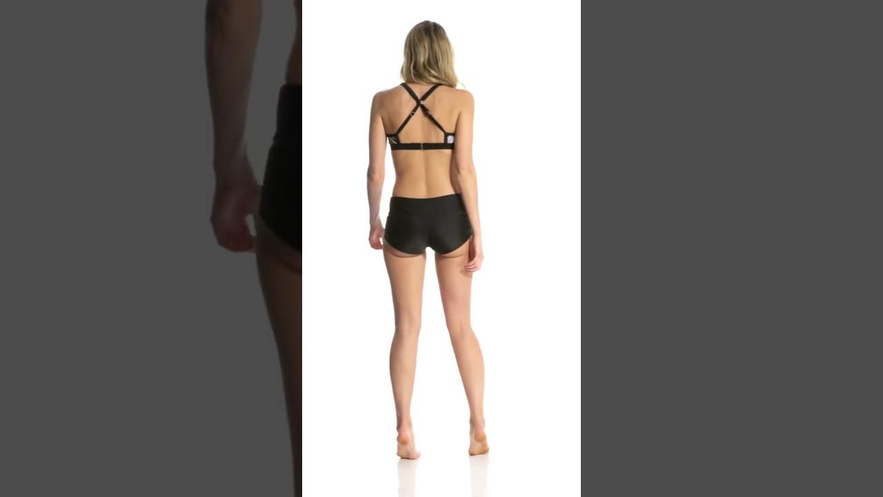 93a39bd64b2c4 Adidas Women's Solid Start Shirred Swim Short | SwimOutlet.com - YouTube