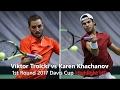 Tennis TV || Viktor Troicki vs Karen Khachanov  First Round 2017 Davis Cup Highlight HD