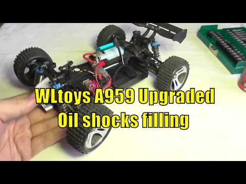 Wltoys A959 Upgraded Version 1/18 4WD - Filling the shocks
