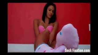 Repeat youtube video Sexy Sock Foot Tease