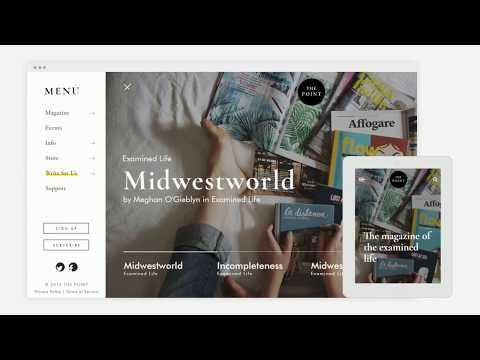 The Point Magazine - Website Re-design