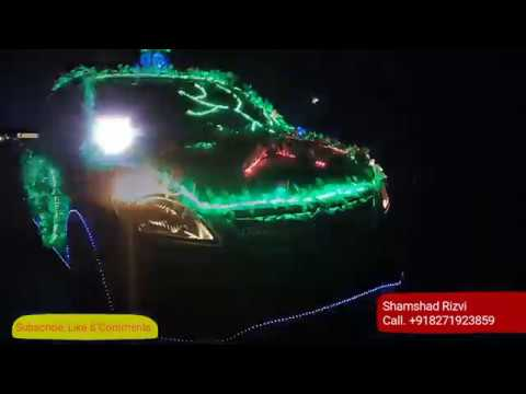 Wedding Car Decorations With Led Youtube