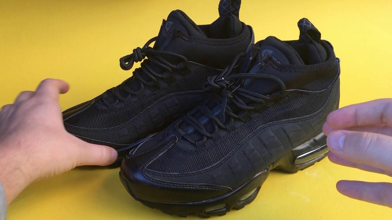 4e490b296098 nike air max 95 sneakerboot black - YouTube