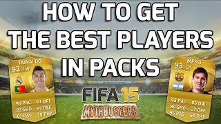 FIFA 15 - HOW TO GET THE BEST PLAYERS IN PACKS!!! - Fifa 15 Mythbusters - Coins Vs Fifa Points