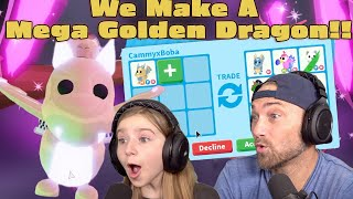 We Finally Did It! We Make A MEGA GOLDEN DRAGON! Roblox Adopt Me Dragon MEGA Mission!