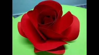 Repeat youtube video Paper Rose - ดอกกุหลาบกระดาษ