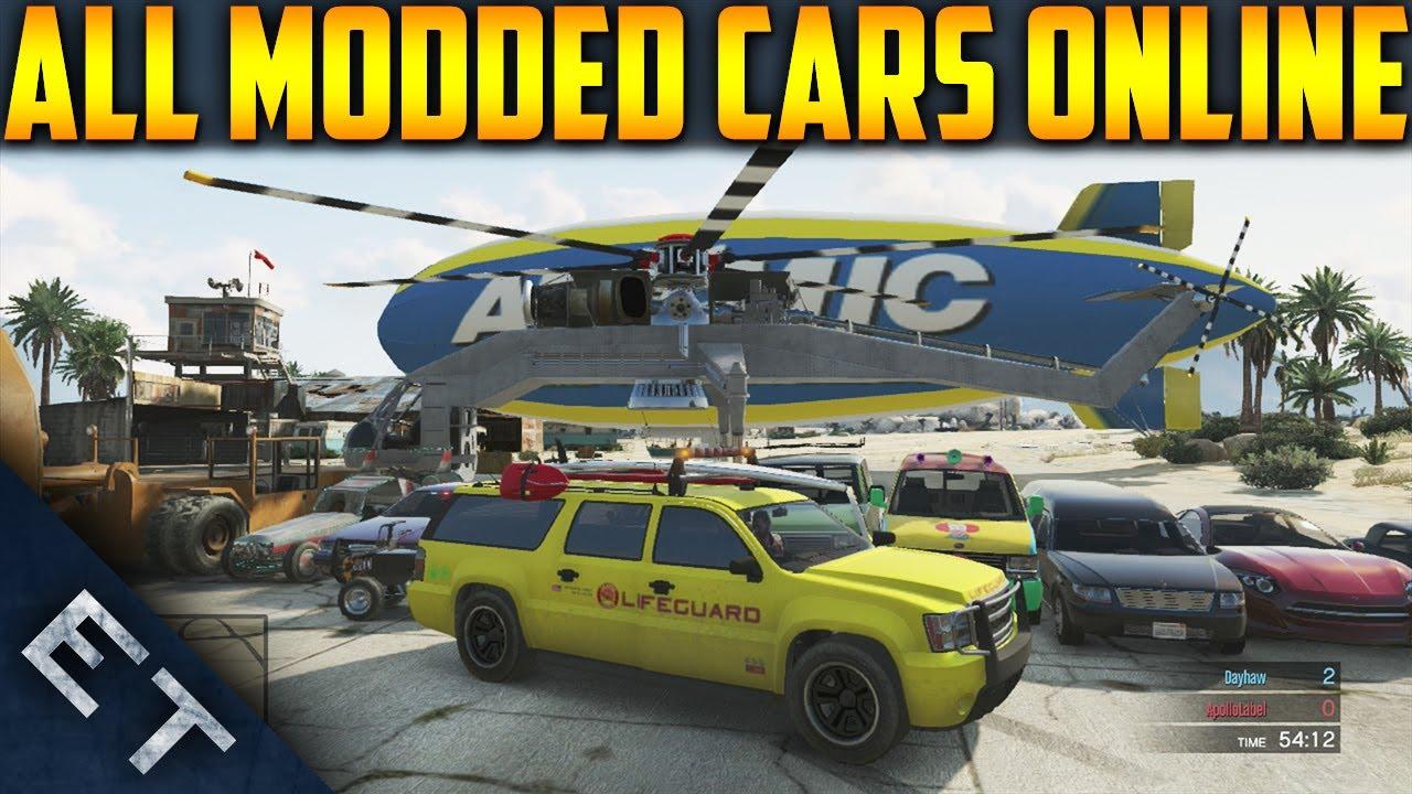 GTA V Online - How To Get All MODDED Vehicles Online! (GTA 5 Modded ...