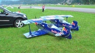 RC Super REDBULL Pitts Synchronously Aerobtic Show flight JWM2013
